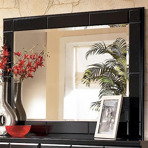 Signature Design By Ashley Shay Contemporary Landscape Dresser Mirror John V Schultz Furniture
