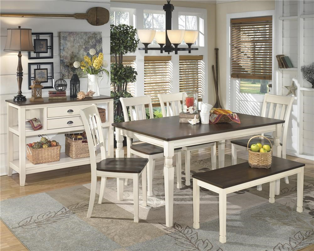 ashley whitesburg 5 piece dining set collections