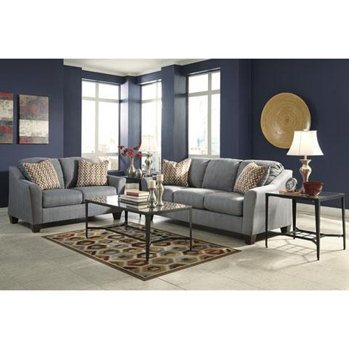 Signature Design By Ashley Furniture Hannin Lagoon Hannin 13 Piece Living Room Package Sam 39 S