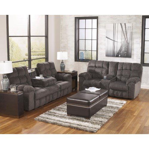 Signature Design By Ashley Acieona Slate Reclining Living Room Group Godby Home Furnishings