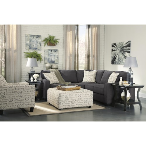Signature Design By Ashley Alenya Charcoal Stationary Living Room Group Beck 39 S Furniture