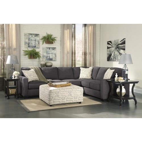 Signature Design By Ashley Alenya Charcoal Stationary Living Room Group Zak 39 S Fine Furniture