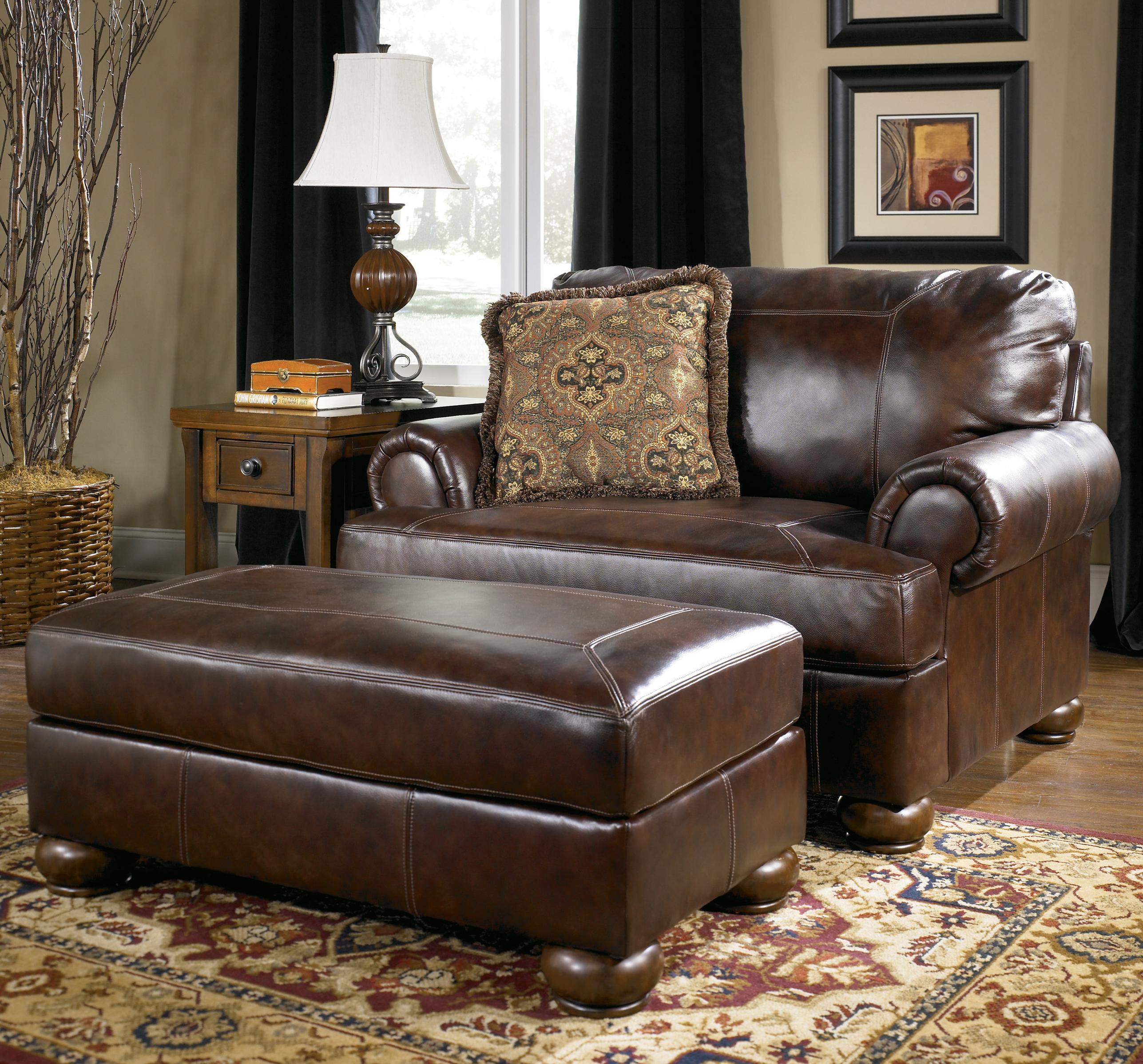 ... Ashley Furniture Danbury Ct By Signature Design By Ashley Axiom Walnut  Traditional ...