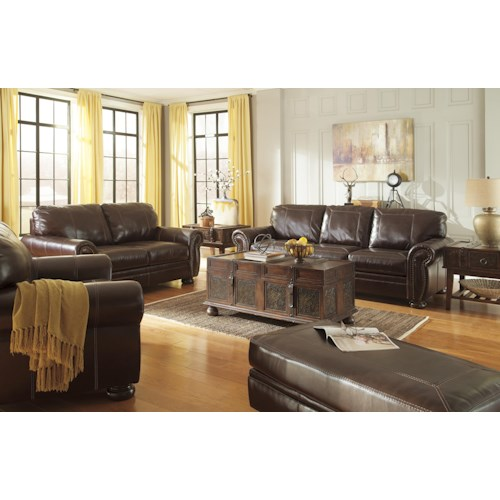 Signature Design By Ashley Banner Stationary Living Room Group Wayside Furniture Upholstery