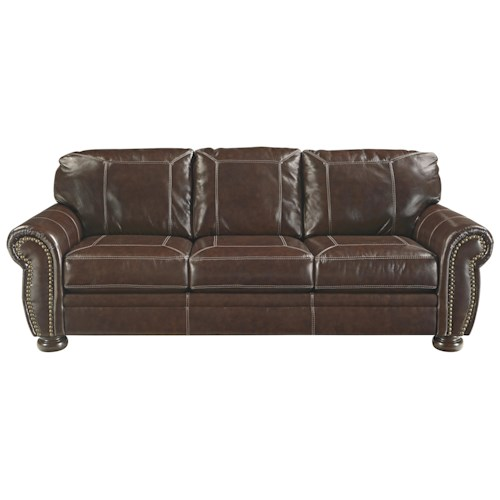 Signature design by ashley banner traditional leather for Ivan smith furniture