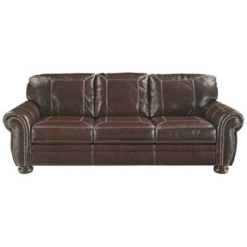 Signature Design By Ashley Banner Traditional Queen Sofa Sleeper With Memory Foam Mattress Zak