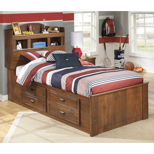 Signature design by ashley barchan twin bookcase bed with for Bedroom furniture green bay wi
