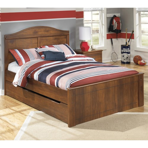 Signature Design By Ashley Barchan Full Panel Bed With Trundle Under Bed Storage Unit Colder 39 S