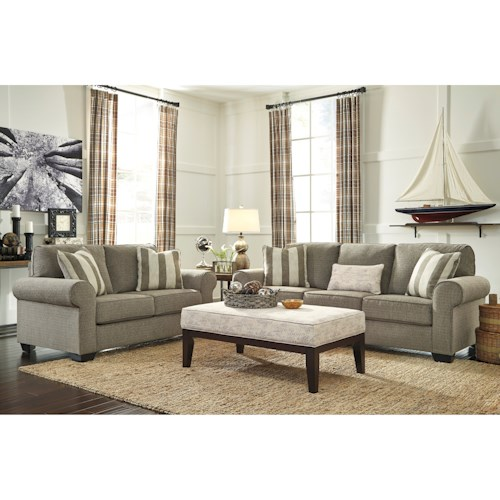Signature Design By Ashley Baveria Stationary Living Room Group Beck 39 S