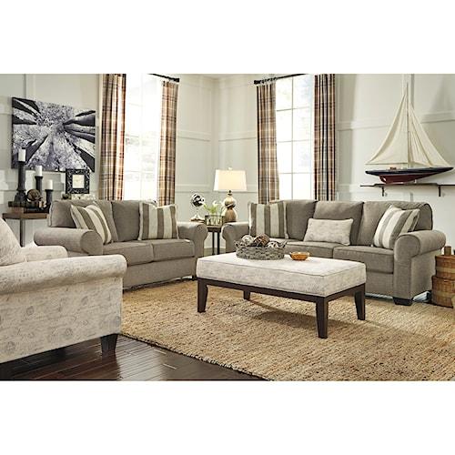 Signature Design By Ashley Baveria Stationary Living Room Group Standard Furniture