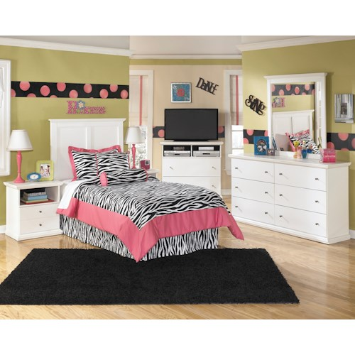 Signature design by ashley bostwick shoals twin bedroom for Furniture 500 companies