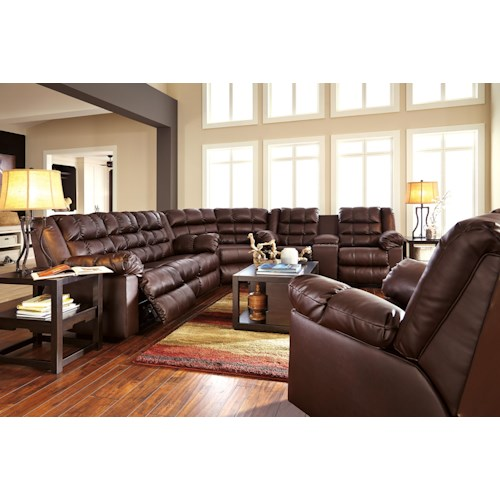 Signature Design By Ashley Brolayne DuraBlend Reclining Living Room Group