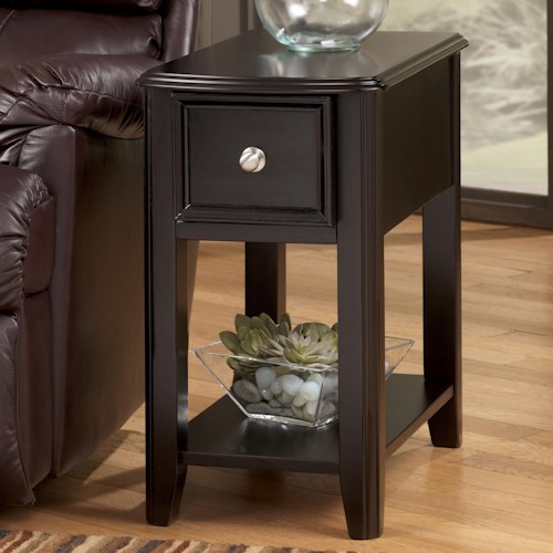 Signature Design By Ashley Breegin Dark Brown Contemporary Carlyle Chairside End Table Turk