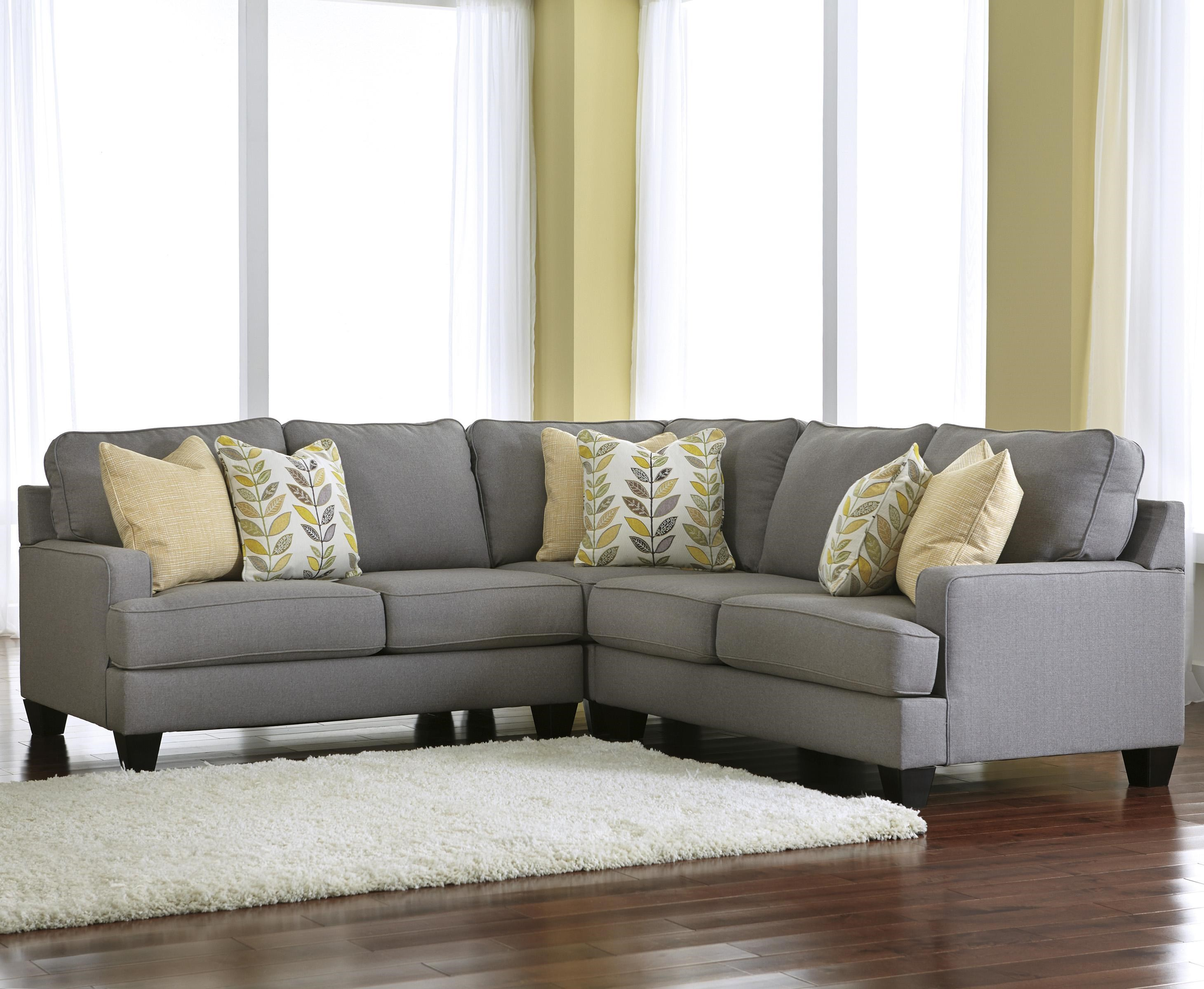 Signature Design by Ashley Chamberly - Alloy Modern 3-Piece Corner Sectional Sofa with ...