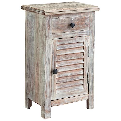 Signature Design By Ashley Charlowe Modern Rustic Door Night Stand A1 Furniture Mattress