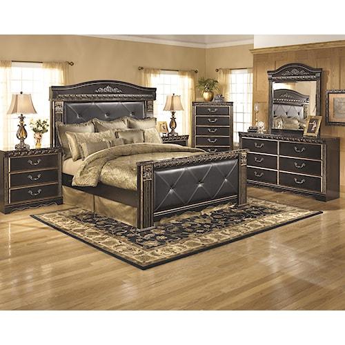 ashley signature design coal creek king bedroom group