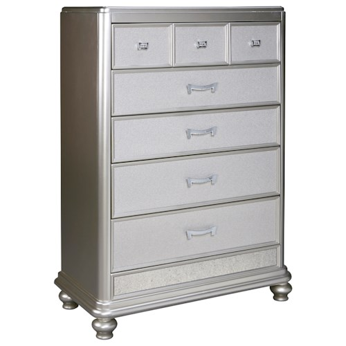 Signature Design By Ashley Coralayne B650 46 Five Drawer Chest Del Sol Furniture Chest Of