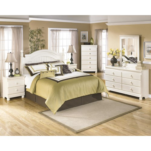 Signature design by ashley cottage retreat queen full bedroom group turk furniture bedroom Cottage retreat bedroom set