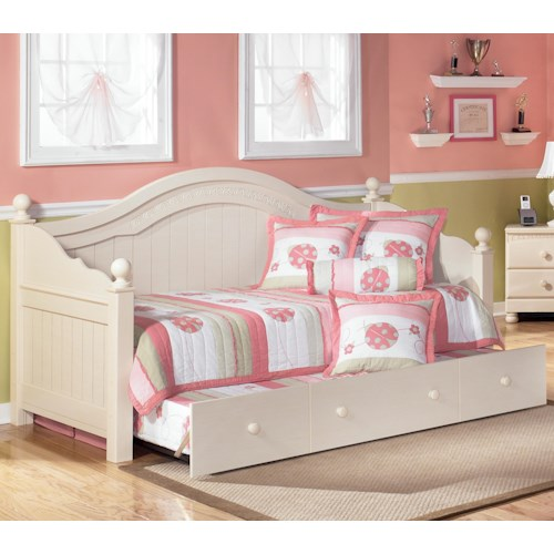 Signature design by ashley cottage retreat day bed with trundle colder 39 s furniture and Cottage retreat collection bedroom furniture