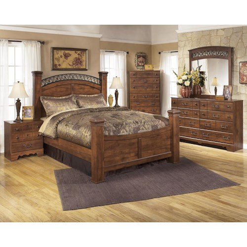 Timberline Sleigh Bedroom Set Signature Design: Signature Design By Ashley Timberline B258 Q Bedroom Group