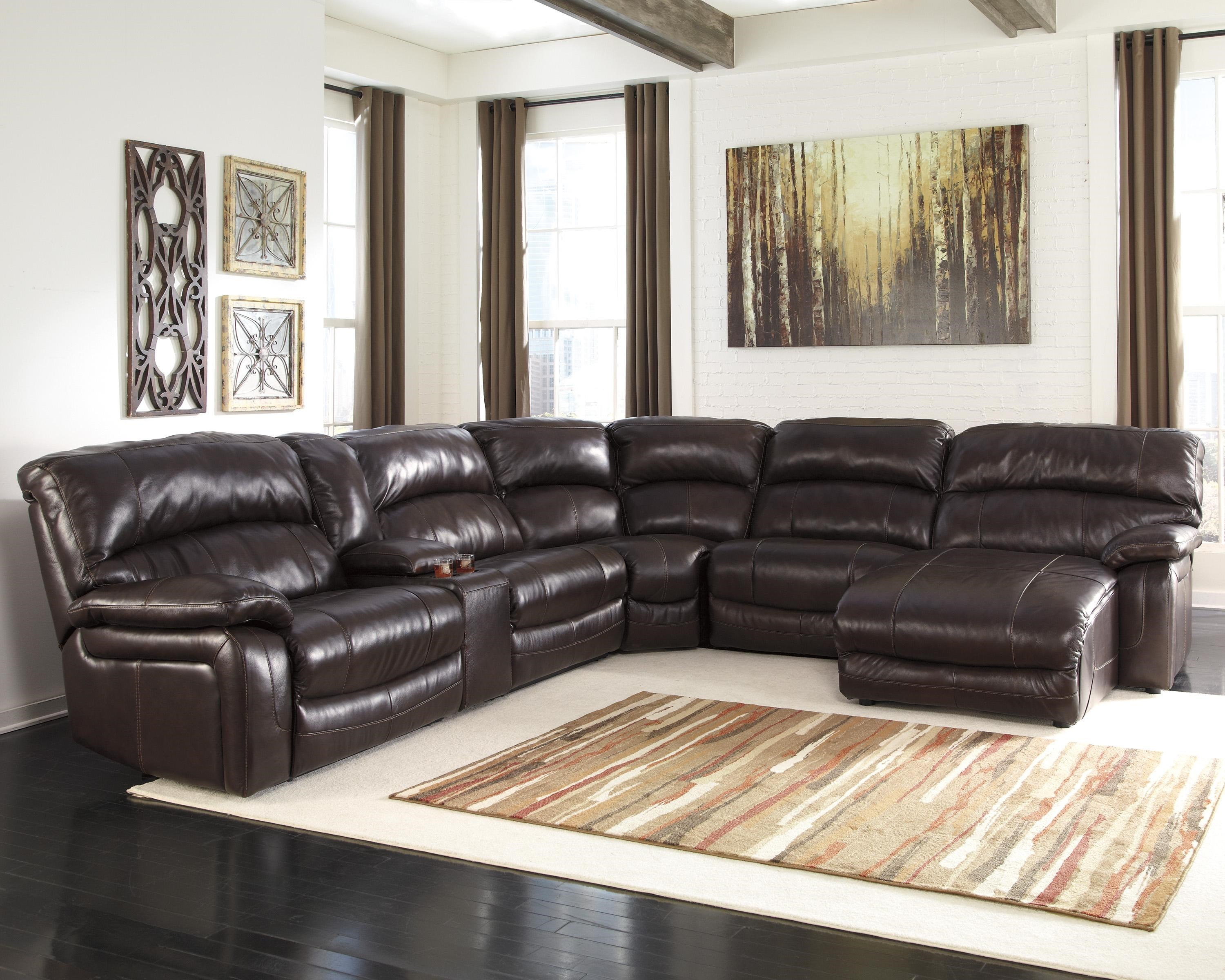 Power Reclining Sectional With Right Press Back Chaise By: Signature Design By Ashley Damacio
