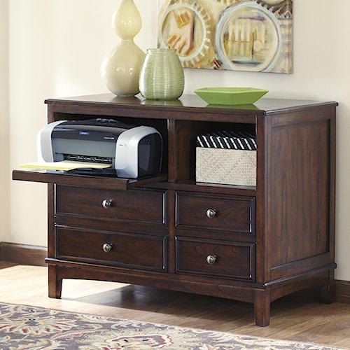 Ashley signature design devrik h619 40 storage cabinet johnny janosik storage credenza - Devrik home office desk ...