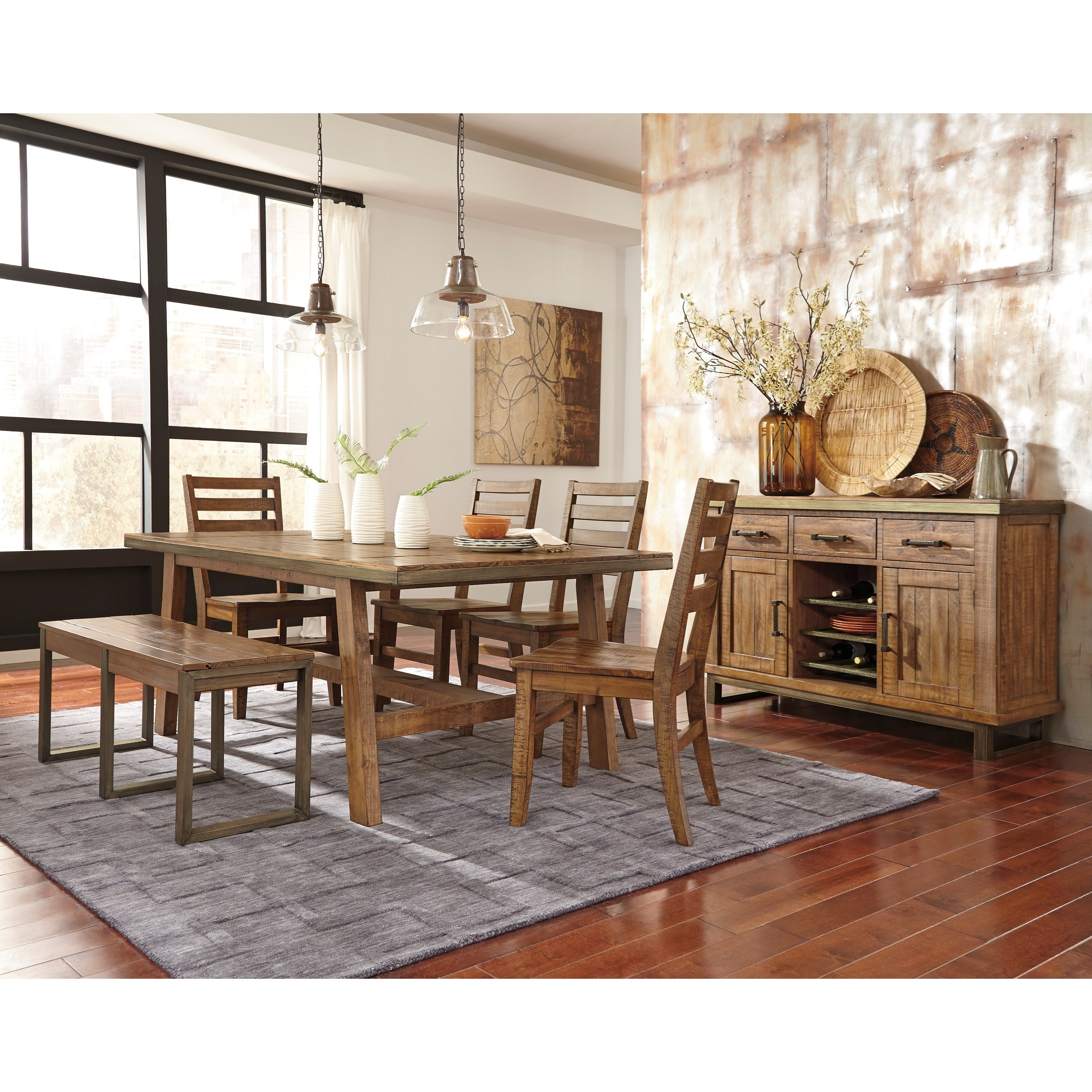 signature design by ashley dondie casual dining room group signature design by ashley gavelston casual dining room