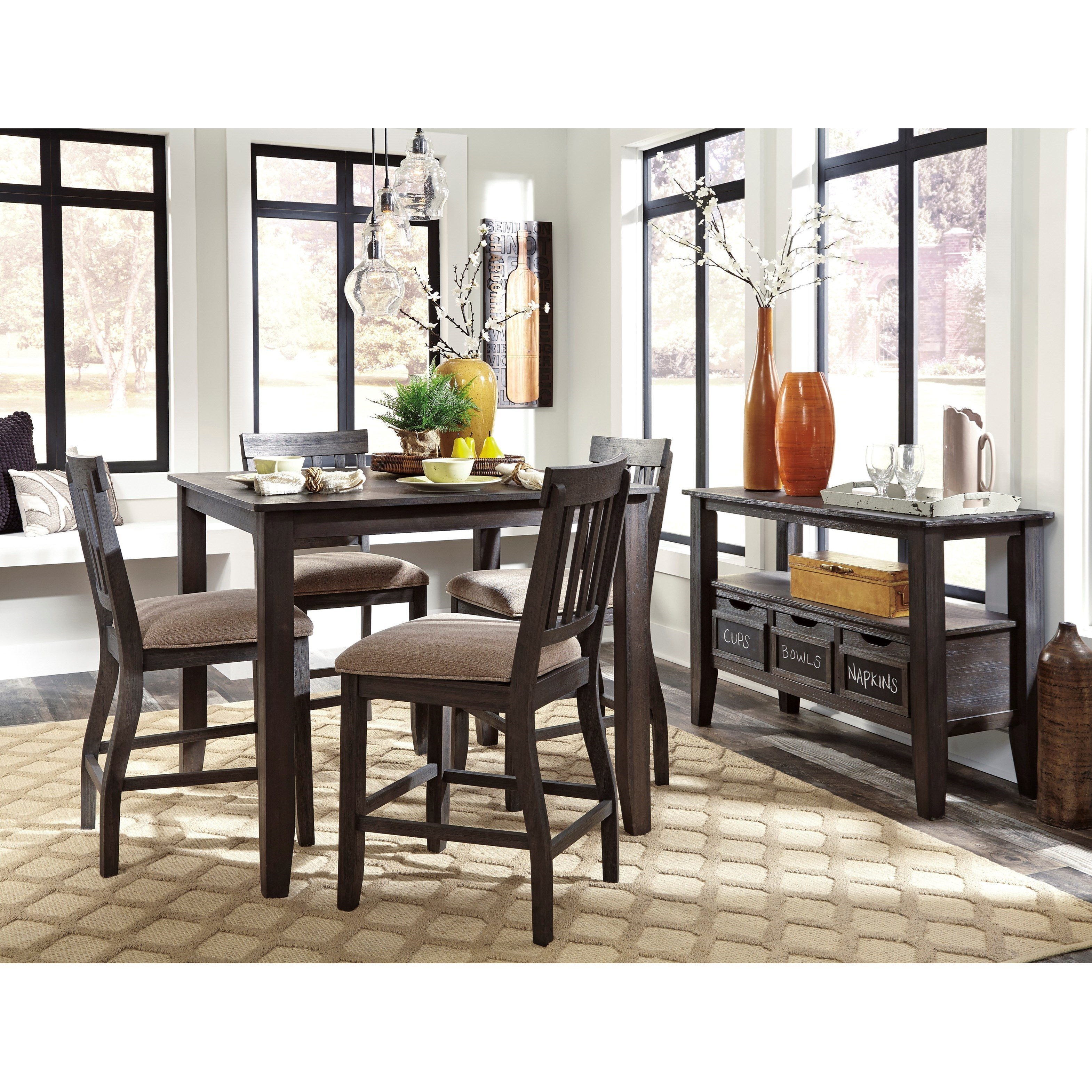 signature design by ashley dresbar casual dining room