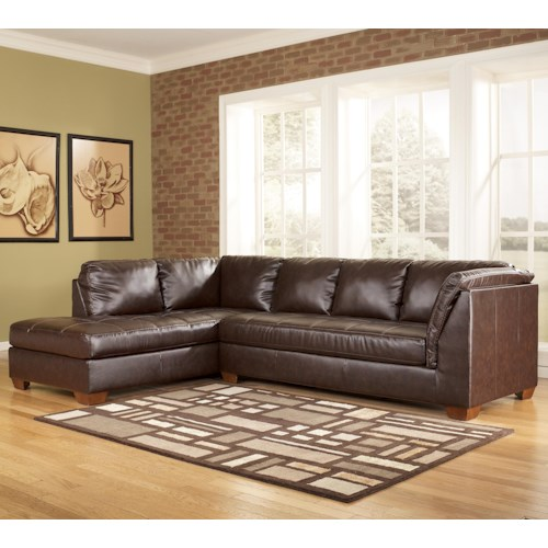 Signature Design By Ashley Fairplay Durablend Contemporary Sectional Sofa In L Shape With