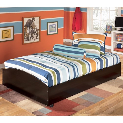 Signature Design By Ashley Embrace Twin Loft Caster Bed Value City Furniture Platform Or Low