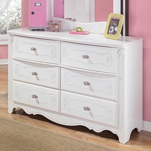 Signature Design By Ashley Exquisite Traditional 6 Drawer Dresser Wayside Furniture Dresser