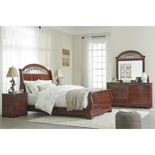 Signature Design By Ashley Fairbrooks Estate Queen Bedroom Group Miskelly Furniture Bedroom