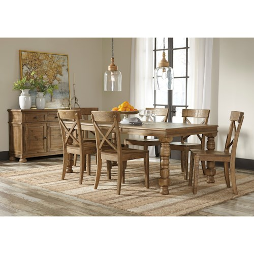 Casual Dining Room Groups Signature Design By Ashley Trishley Casual