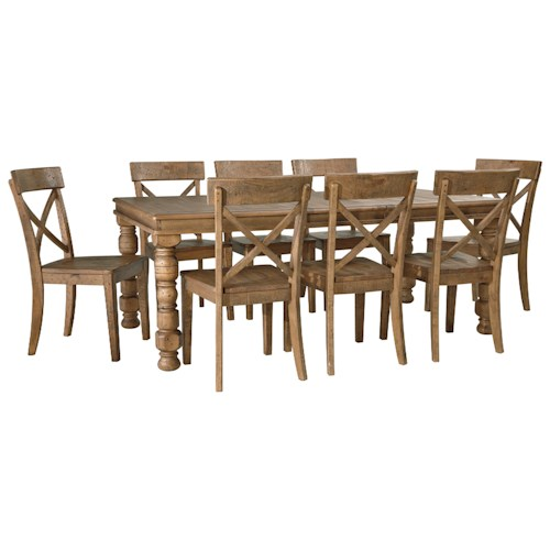 piece solid pine dining table set wayside furniture dining 7 or