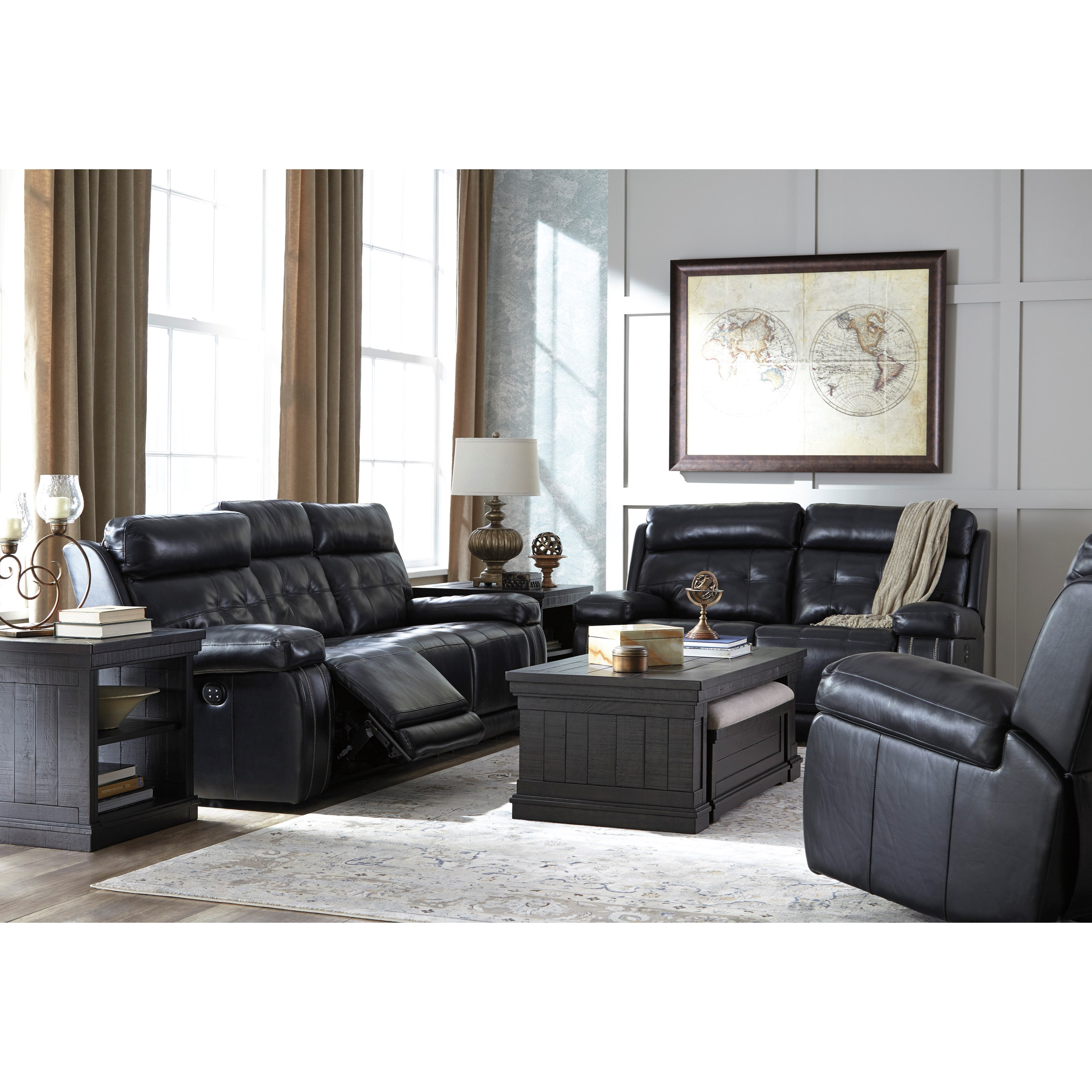 Living room group del sol furniture reclining living room groups