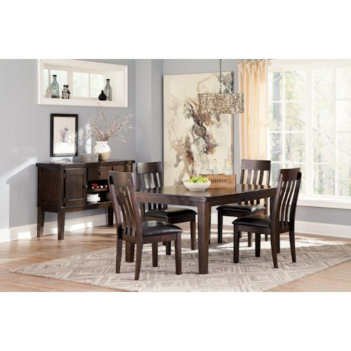 Signature Design By Ashley Haddigan Casual Dining Room Group Beck 39 S Furniture Casual Dining