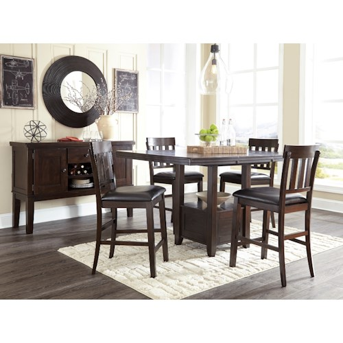 Informal Dining Room: Signature Design By Ashley Haddigan Casual Dining Room