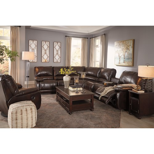 Signature Design By Ashley Hallettsville Reclining Living Room Group Waysid