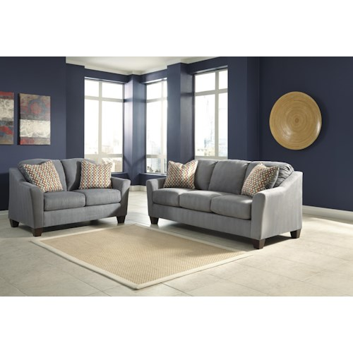 Signature Design By Ashley Hannin Lagoon Stationary Living Room Group Del Sol Furniture