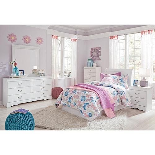 Signature Design By Ashley Furniture Anarasia Twin Bedroom Group Sam 39 S