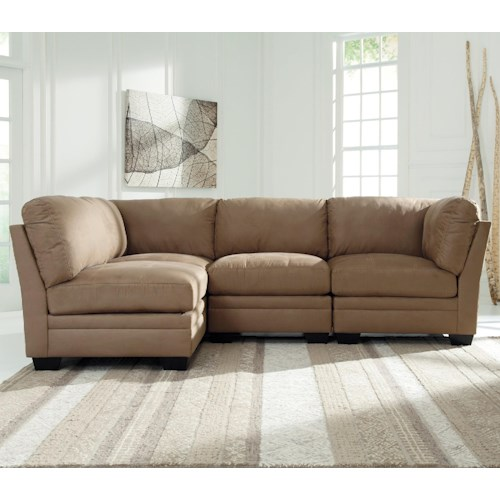 Signature design by ashley iago 4 piece modular sectional for 4 piece living room furniture