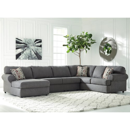 Signature Design By Ashley Jayceon 3 Piece Sectional With Left Chaise Beck 39 S Furniture