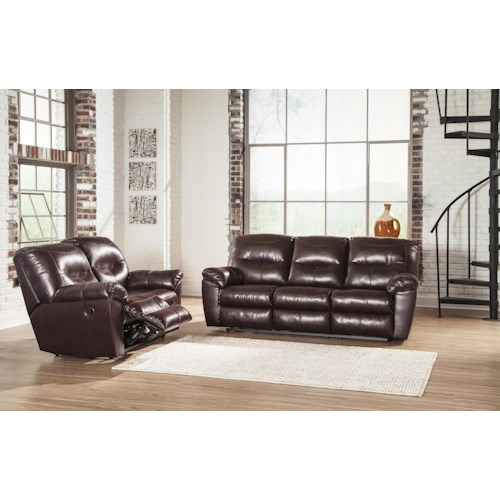 Signature Design By Ashley Kilzer Durablend Reclining Living Room Group Royal Furniture