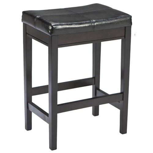 Signature Design By Ashley Kimonte Contemporary Backless Upholstered Barstool Dark Brown