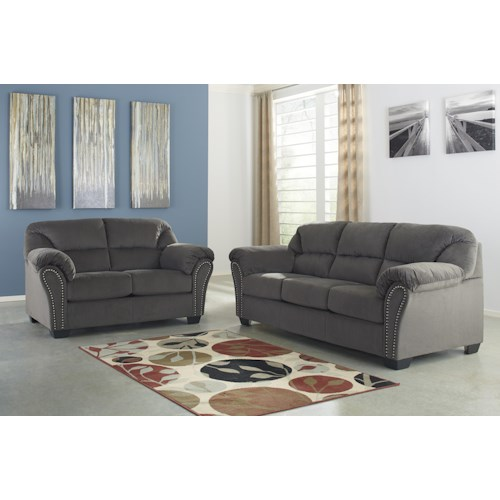 Signature Design By Ashley Kinlock Stationary Living Room Group Del Sol Furniture Upholstery