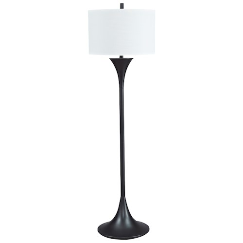 design by ashley lamps contemporary joakim black metal floor lamp. Black Bedroom Furniture Sets. Home Design Ideas