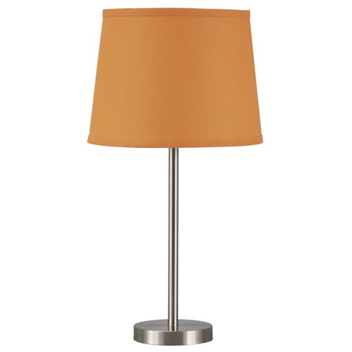 Signature design by ashley lamps contemporary shonie for Home design zymeth aluminum table lamp