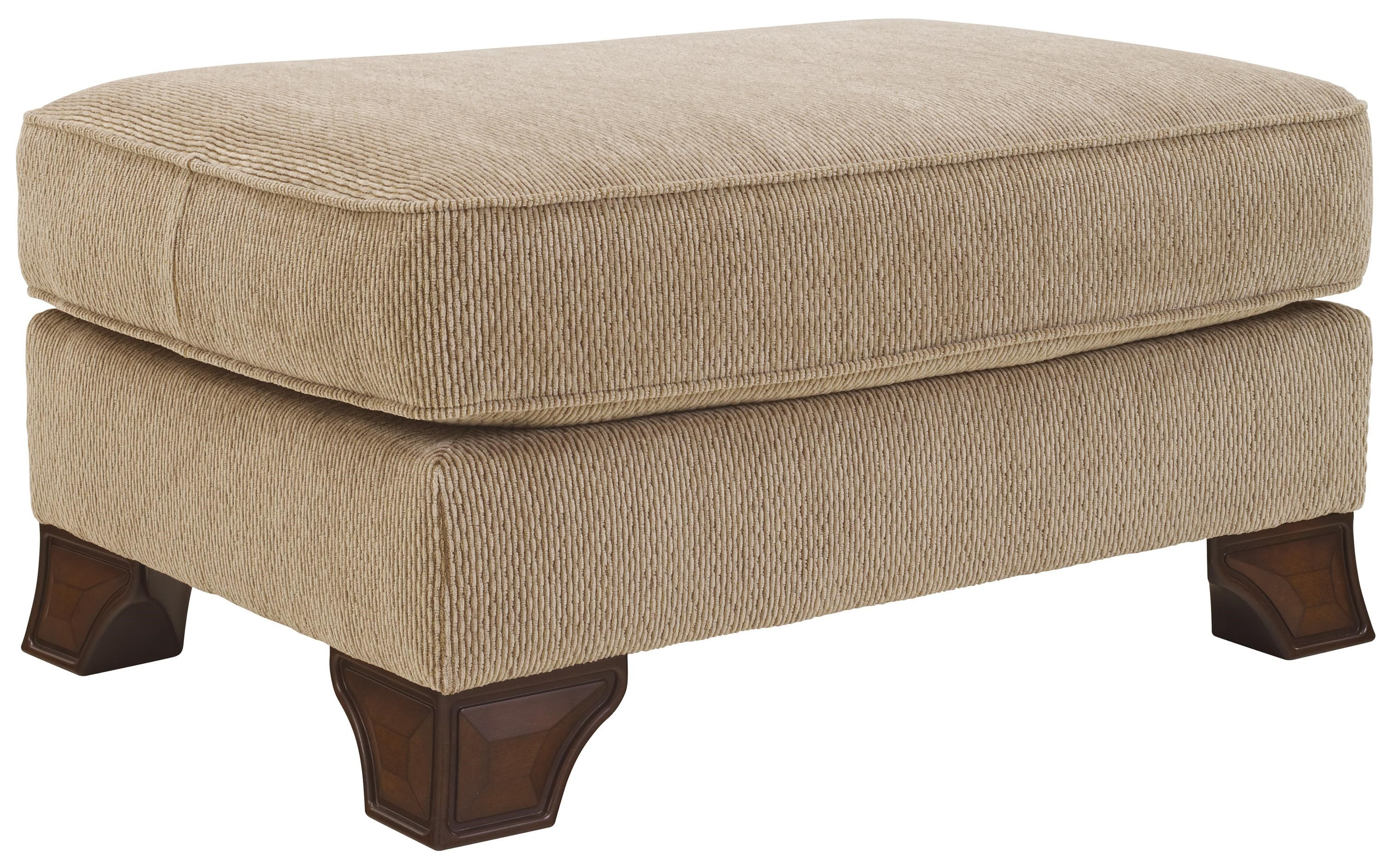 Signature Design by Ashley Lanett Ottoman with Shaped Wood