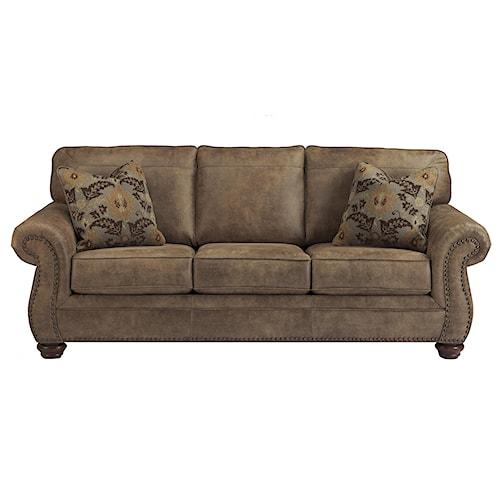 Signature Design By Ashley Larkinhurst Earth Traditional Roll Arm Sofa Walker 39 S Furniture