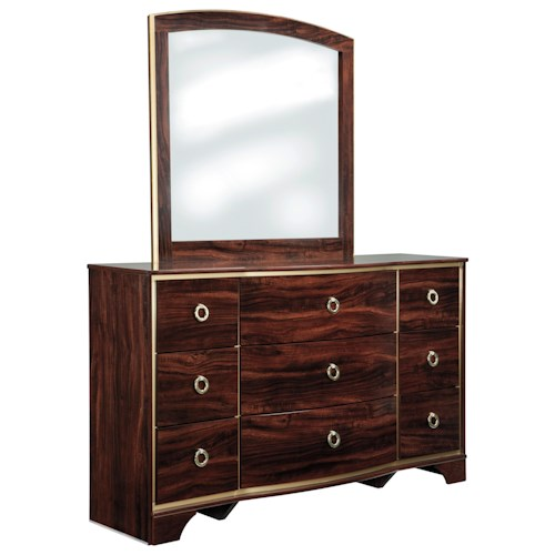 Signature Design By Ashley Lenmara Dresser Bedroom Mirror Beck 39 S Furniture Dresser